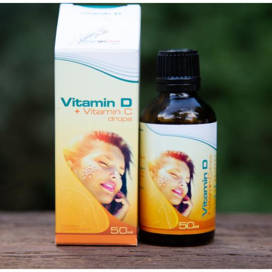 D-vitamin + C-vitamin Csepp 50ml